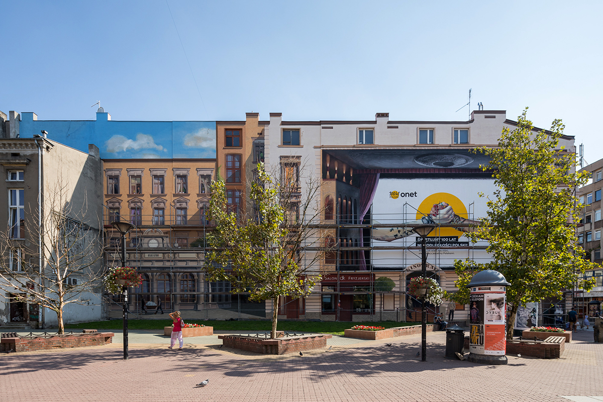 Tandeta i kicz mural w pasażu Schillera (1)